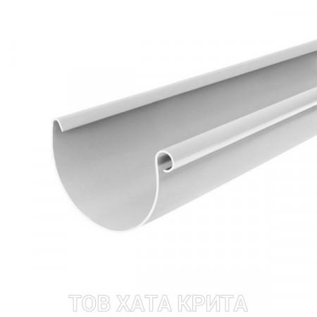 Ринва ІНСТАЛПЛАСТ 125мм. 3м. біла