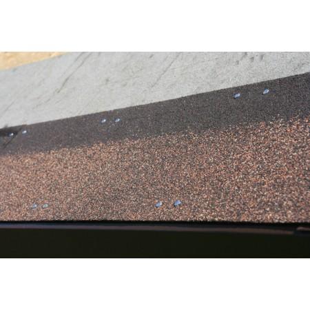 Коньково-карнизна плитка Акваізол коричнева (12/21м.п.)
