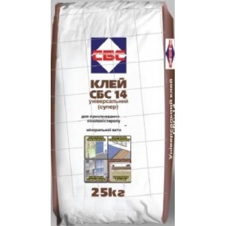 СБС-14 Клей для мінеральної вати приклеювання/армування (25кг)