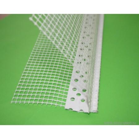Кутник пластиковий із сіткою та крапельником, 10х10,2,5м (25шт)