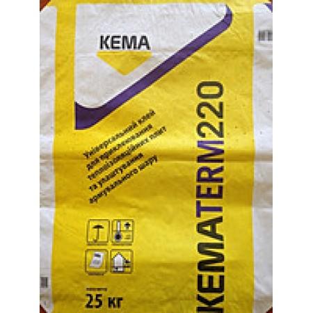 Клей для пінопласту та мінеральної вати Kematerm 220